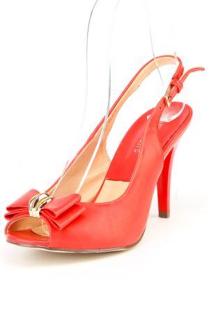 Туфли THANKS4LIFE. Цвет: красный