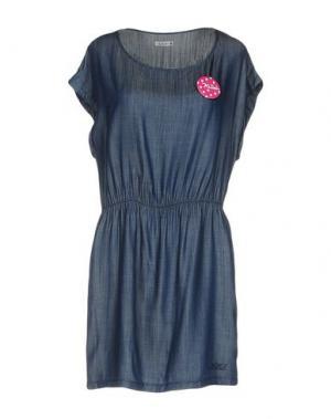 Короткое платье KILLAH. Цвет: синий