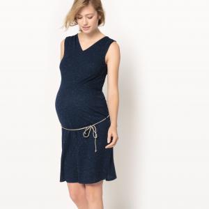 Платье без рукавов для периода беременности R essentiel. Цвет: темно-синий