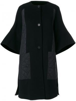 Пальто-кардиган колор блок  IM Isola Marras I'M. Цвет: чёрный