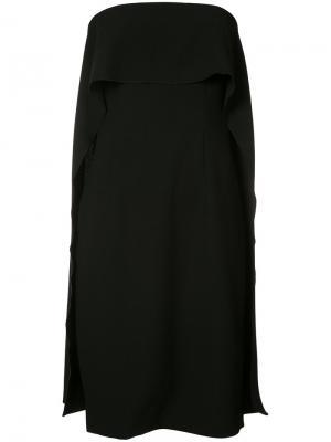 Расклешенное платье без бретелек Trina Turk. Цвет: чёрный