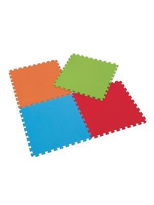 Маты игровые 4 шт ELC. Цвет: голубой, красный, оранжевый, зеленый