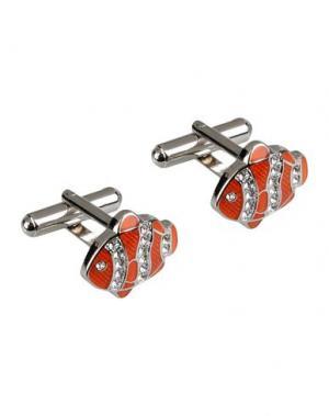Запонки и зажимы для галстука MON ART. Цвет: оранжевый