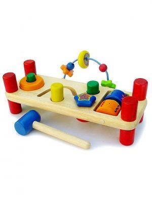 Развивающая скамейка I'm Toy. Цвет: красный (осн.), синий, зеленый