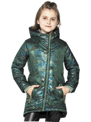 Пальто Карамелли. Цвет: зеленый