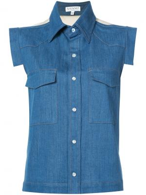 Джинсовая рубашка без рукавов Vionnet. Цвет: синий