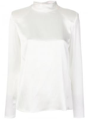 Структурированная блузка Dondup. Цвет: белый