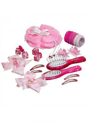 Набор аксессуаров д/волос Миниледи. Цвет: фиолетовый, розовый