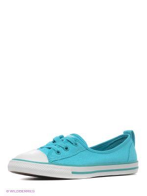 Балетки Converse. Цвет: голубой