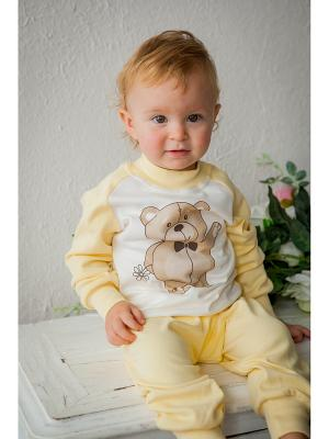 Пижама Tsipochka. Цвет: желтый