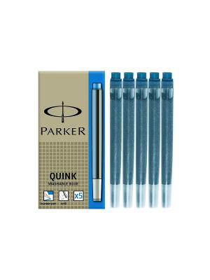 Картридж с чернилами  QUINK для перьевой ручки, LONG Parker. Цвет: синий