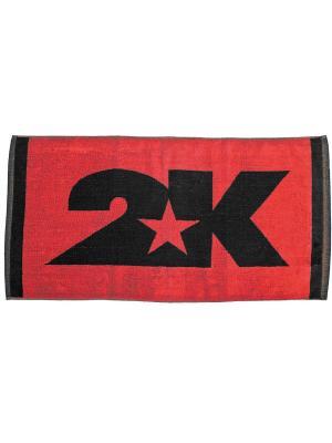Полотенце махровое Bari 40x80см 2K. Цвет: красный, черный