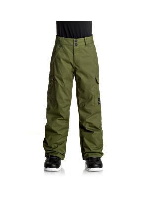 Брюки DC Shoes. Цвет: хаки, желтый, темно-зеленый
