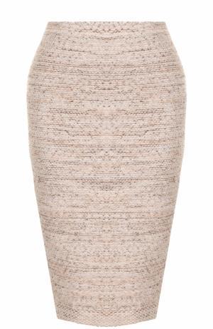 Вязаная юбка-карандаш D.Exterior. Цвет: розовый