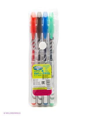 Набор цветных гелевых ручек 4 цвета Centrum. Цвет: синий