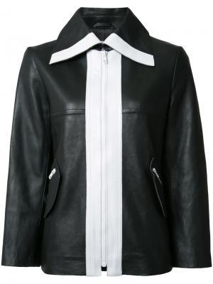 Куртка с контрастным дизайном Carven. Цвет: чёрный