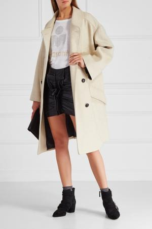 Шерстяное пальто Flicka Isabel Marant Etoile. Цвет: none