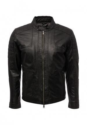 Куртка кожаная Liu Jo Uomo. Цвет: черный
