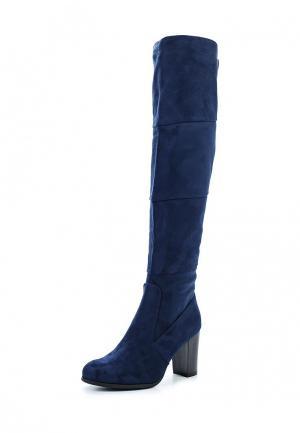 Ботфорты Ideal Shoes. Цвет: синий