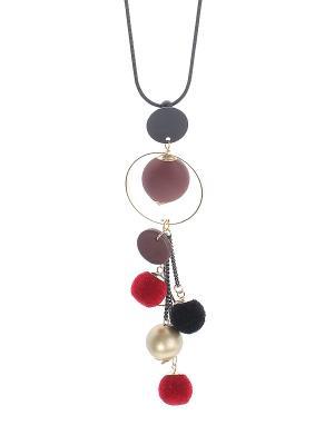 Колье Infiniti. Цвет: бордовый, золотистый, черный