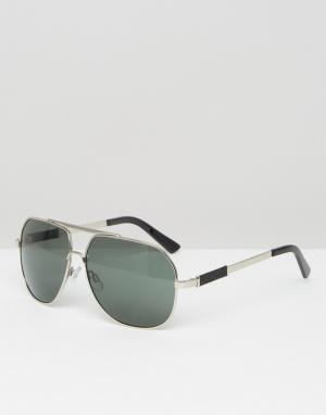 AJ Morgan Солнцезащитные очки-авиаторы. Цвет: серебряный