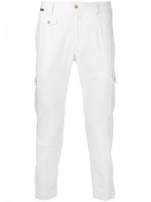 Укороченные брюки карго Dolce & Gabbana. Цвет: белый