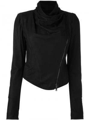 Укороченная байкерская куртка Isabel Benenato. Цвет: чёрный