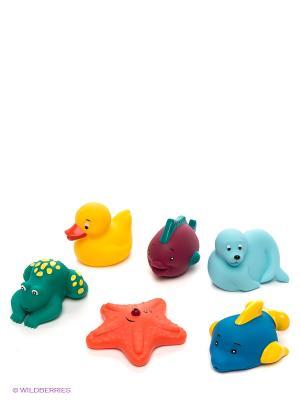 Набор для ванной Морские животные Battat. Цвет: голубой