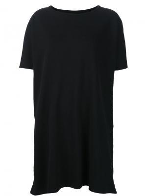 Платье-футболка Organic By John Patrick. Цвет: чёрный
