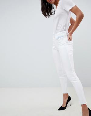 Salsa Укороченные джинсы скинни Push In Secret. Цвет: белый