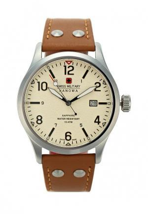 Часы Swiss Military. Цвет: коричневый