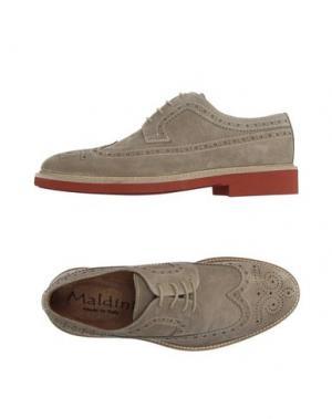 Обувь на шнурках MALDINI. Цвет: голубиный серый