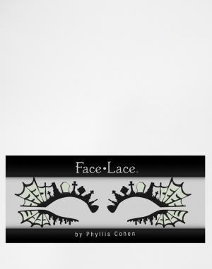 Facelace Декор для глаз черного и неонового цвета Face Lace Halloween Va Tom. Цвет: tombillume