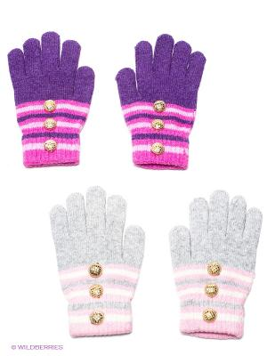 Перчатки, 2 пары FOMAS. Цвет: серый, фиолетовый