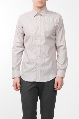 Рубашка Karflorens. Цвет: коричневый, микрополоска