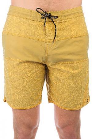 Шорты пляжные  Tribong Overdye Lt18 Mustard Billabong. Цвет: желтый