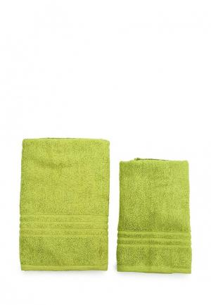 Комплект полотенец 2 шт. Arloni. Цвет: зеленый