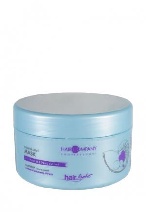 Маска для волос с минералами и экстрактом жемчуга Hair Company Professional. Цвет: голубой