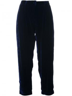 Зауженные брюки Vincenzo Mes Demoiselles. Цвет: синий
