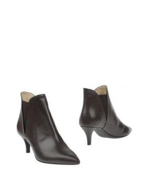 Полусапоги и высокие ботинки PREZIOSO. Цвет: темно-коричневый