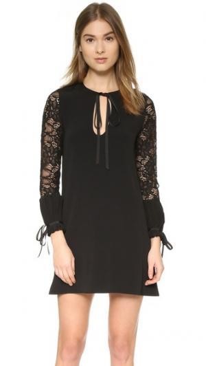 Кружевное платье Maxine Alexis. Цвет: черное кружево