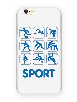 Чехол для IPhone 6 Sport Mitya Veselkov. Цвет: белый, фиолетовый