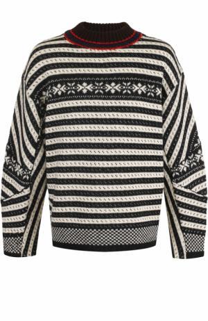 Шерстяной свитер свободного кроя Dries Van Noten. Цвет: разноцветный
