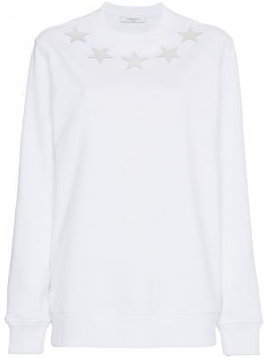 Свитер с аппликациями в виде звезд Givenchy. Цвет: белый