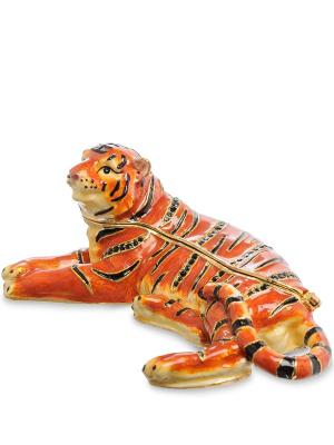 Шкатулка Тигр Art East. Цвет: коралловый