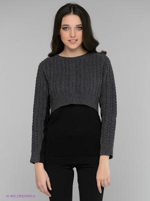Джемпер SISTE'S. Цвет: серый, черный