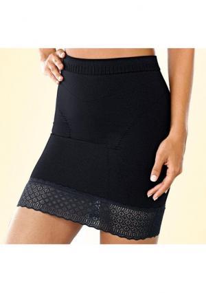 Моделирующая юбка Class International. Цвет: телесный, черный
