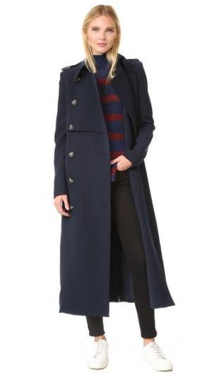 Пальто-тренч классического кроя camilla and marc. Цвет: чернильный
