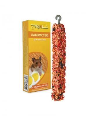 Лакомство для грызунов с мёдом и яйцом (уп. 3 шт) TRIOL. Цвет: желтый