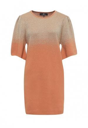 Платье Elisabetta Franchi. Цвет: оранжевый